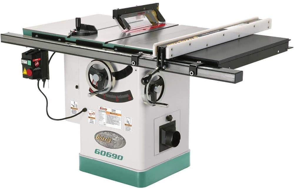 Grizzly G0690 Cabinet Table Saw with Riving Knife of 10-inches