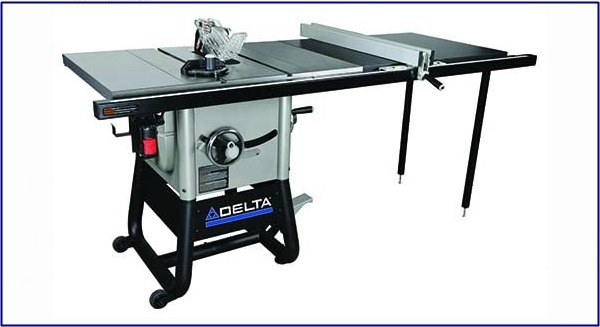 Delta Power Tools 36-5152 Delta Left Tilt Table Saw with 52-Inch RH Rip, 10-Inch