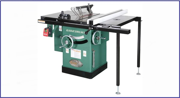 Grizzly Industrial G1023RLWX - 10 inch 5 HP 240V Cabinet Table Saw with Built-in Router Table