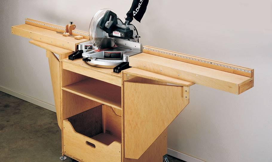 how to make miter saw table